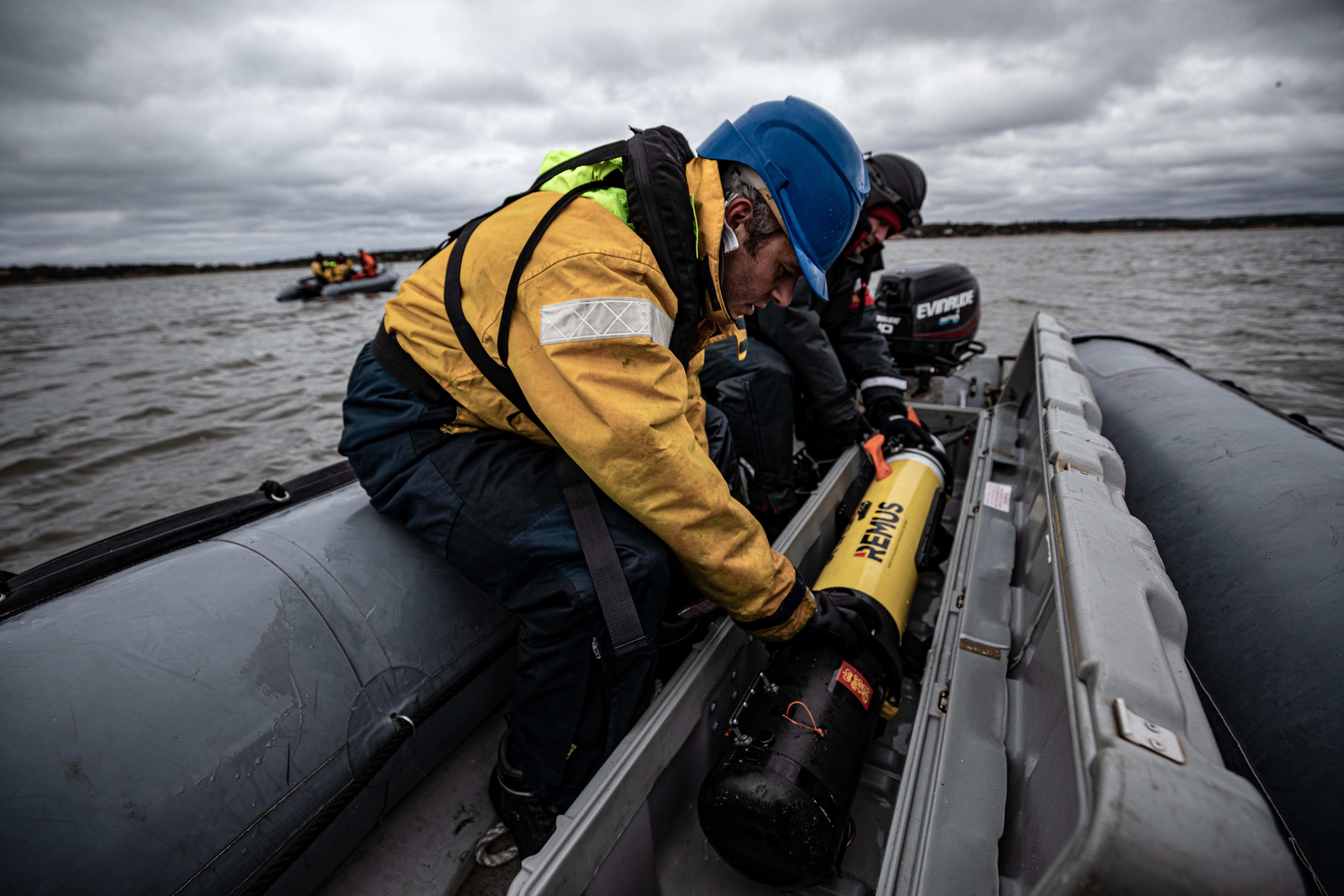 Belgian Minehunter in Norwegian Waters